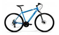 Комфортный велосипед Merida Crossway 10-D (2021) синий 58см